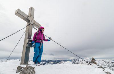 Skitour Lugauer Gipfelkreuz