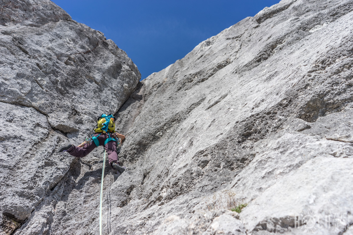 Klettern Schobertal Hinterstoder Halfpipe Climb&Fly