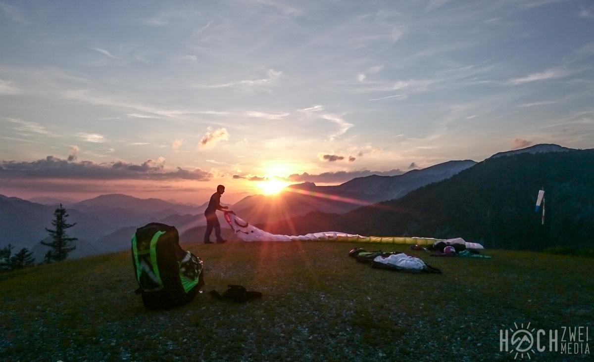 Sonnenuntergangs-Flug am Kleinerberg