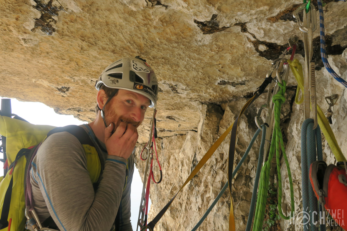 Monte Brento Klettern Via Vertigine Universo Giallo Gelbes Universum