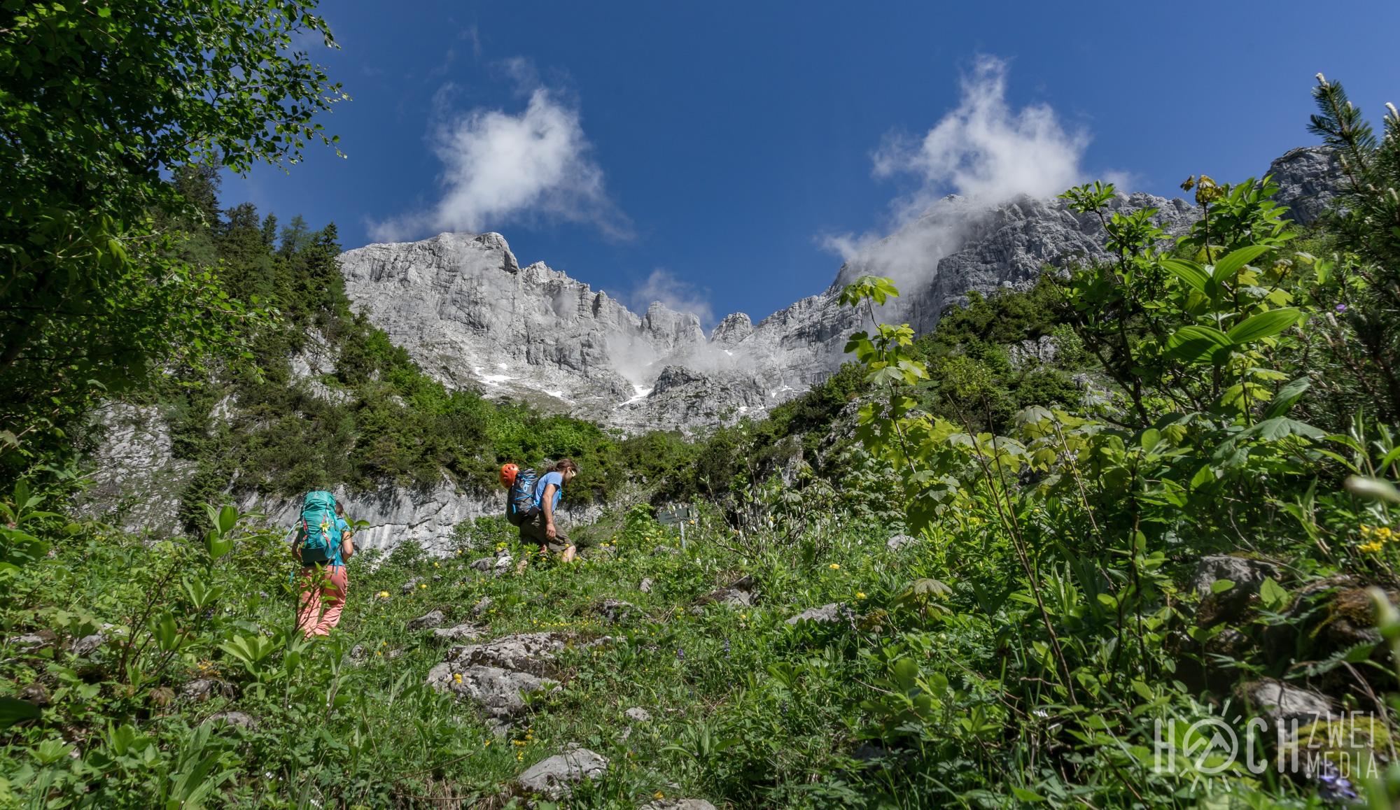 Gesäuse Festkogel Klettern Zustieg