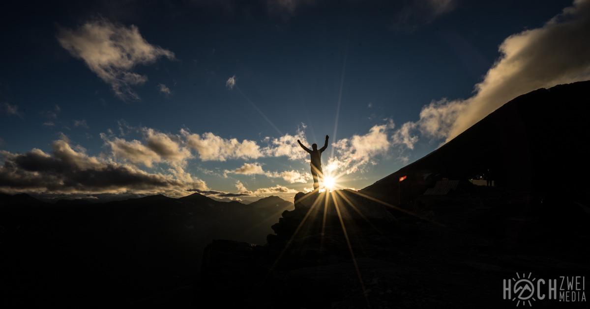 Nacht auf der Tracuit Hütte Cabane Bishorn Weißhorn-Überschreitung