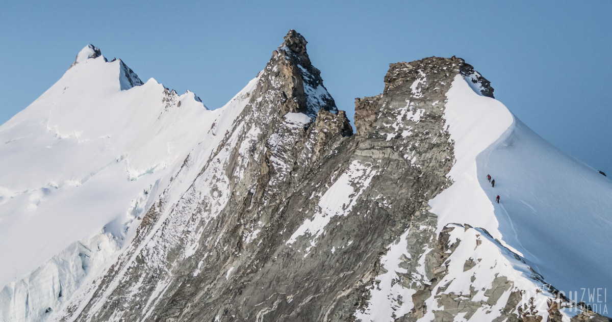 Weisshorn-Überschreitung Nordgrat Weißhorn