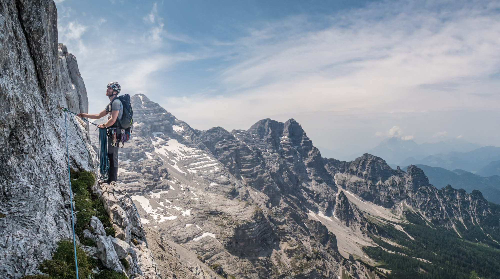 Klettern Ende Nie Loferer Steinberge Breithorn Longlines