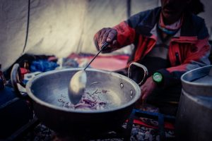 Kochen im Basislager