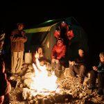 Abschieds-Feuer mit den Slowaken