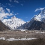 Am Konkordiaplatz: K2 und Broad Peak