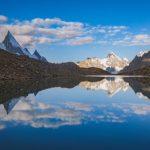 Laila Peak als Spiegelbild