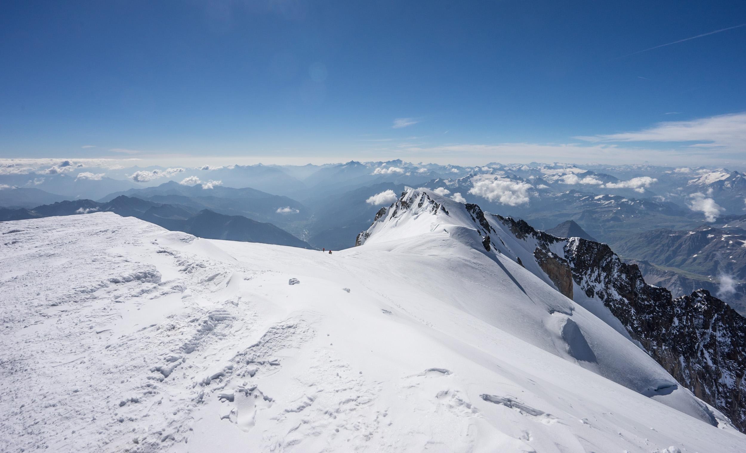 Blick zum Mont Blanc de Courmayeur