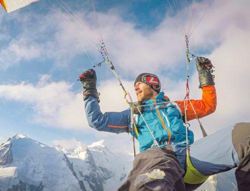 Mit dem Gleitschirm vom Mont Blanc
