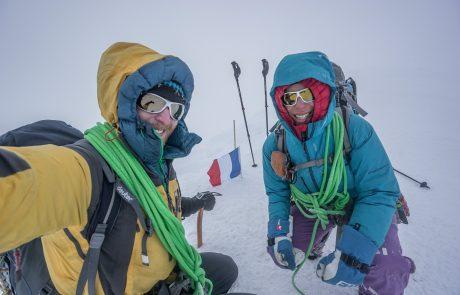 Keine Flugbedingungen am Gipfel vom Mont Blanc