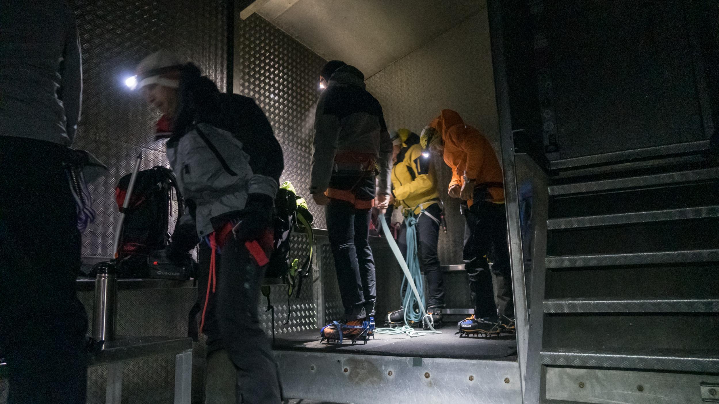 Das Vallot Biwak am Mont Blanc