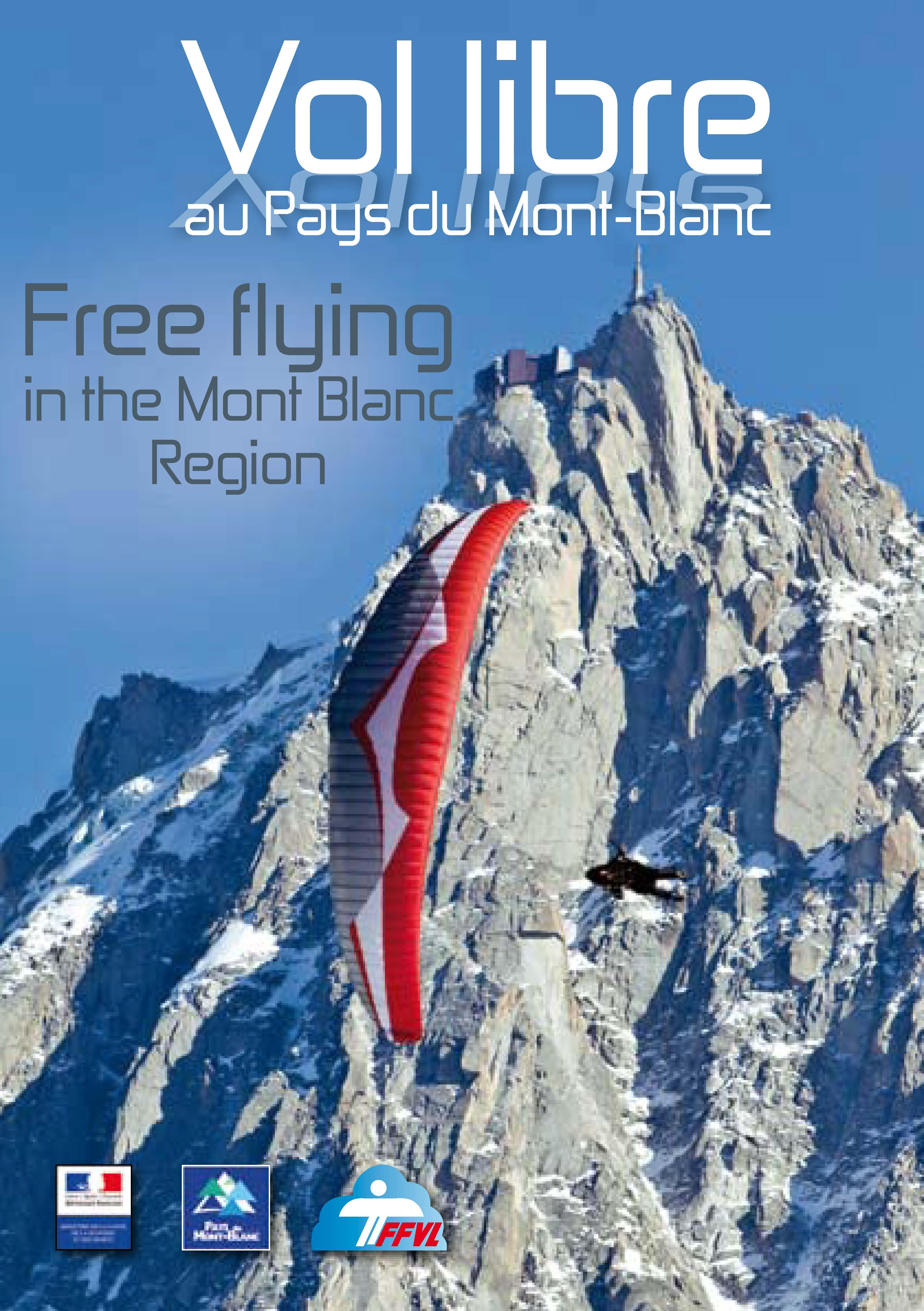 Broschüre mit Infos zum Fliegen rund um den Mont Blanc