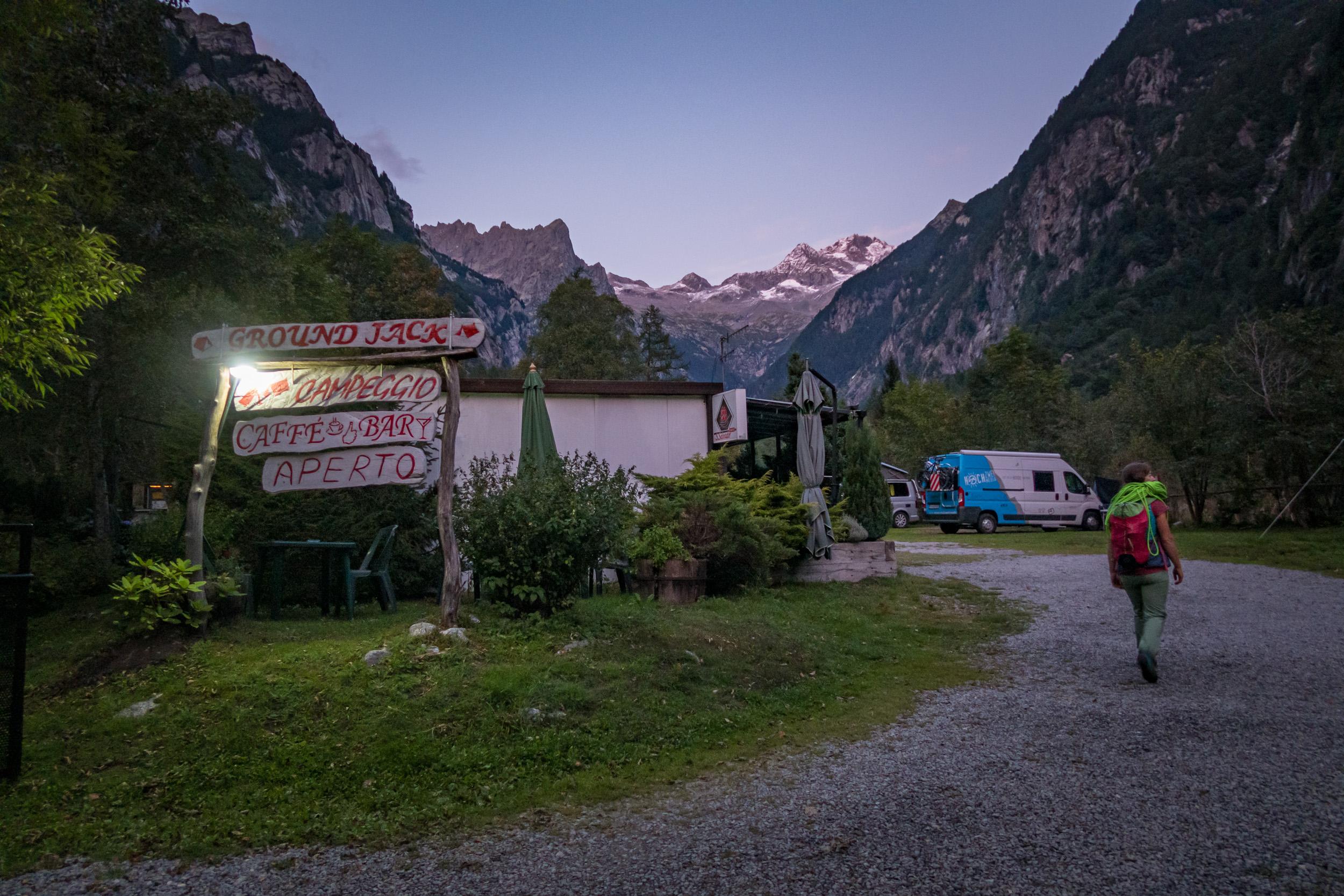 Campingplatz im Val di Mello