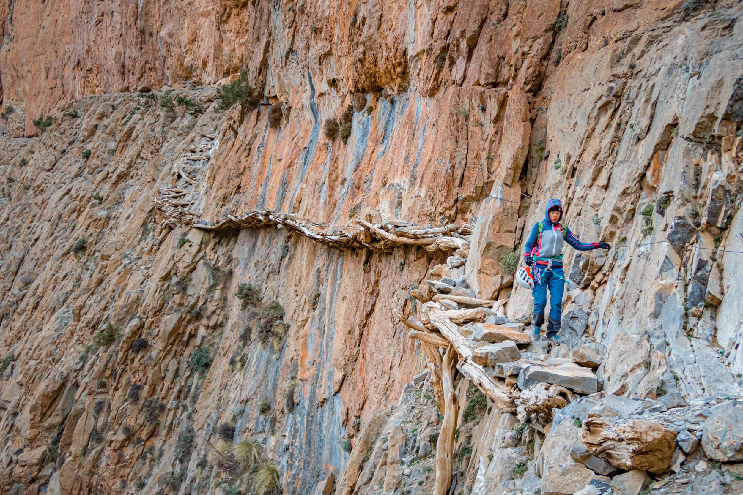 Klettern in der Thagia-Schlucht